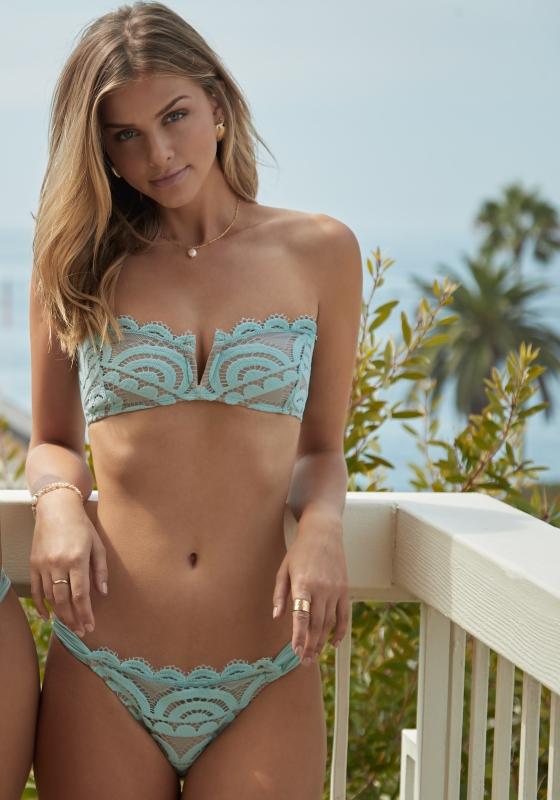 PQ Swim Seafoam Lace Bandeau Bikini
