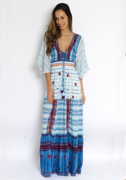 aeb6b678ad4 Hemant   Nandita Frontier Maxi Dress