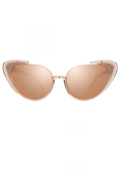 97224f8650 Linda Farrow Rose Gold Cat Eye Sunglasses