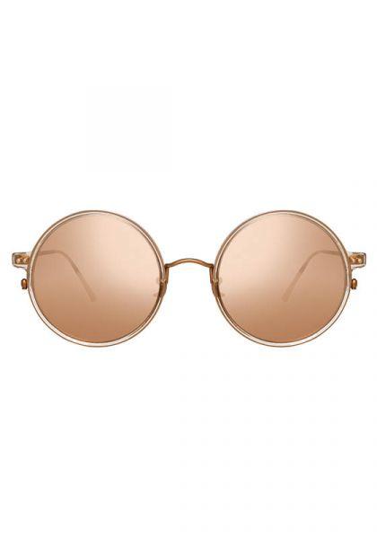 b2e42b469fe Linda Farrow Oversized Round Frame Rose Gold Sunglasses