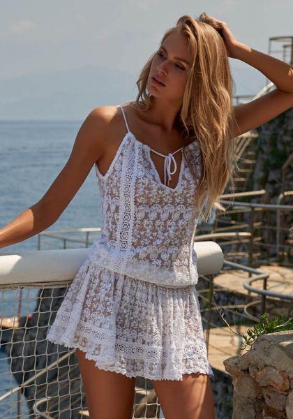 cde6802601e68 Auf Weiß Kleid Melissa Shop OdabashZoe Online VSUzMp