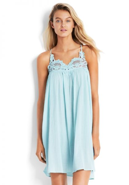 df193a9dab1fe Seafolly | Lace Detail Swing Dress | Beach Cafe UK