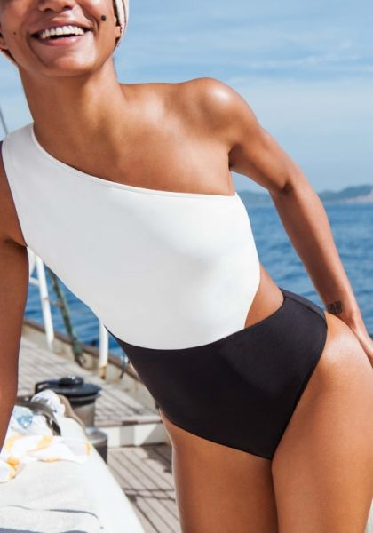 a406ad66bc998 Seafolly | One Shoulder Cut Out Swimsuit | Beach Cafe UK