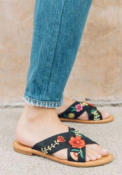 17976977ddb Embellished Floral Sandals
