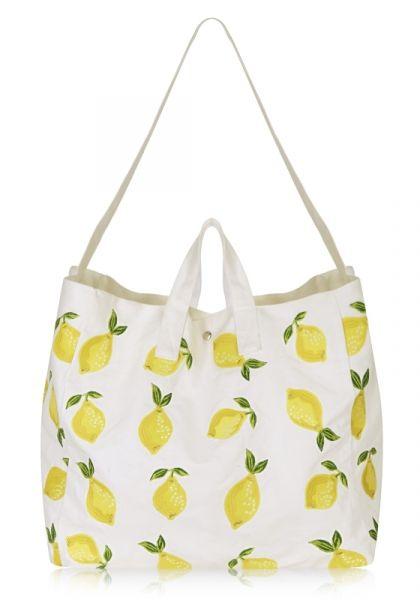 Elizabeth Scarlett Lemon Beach Bag