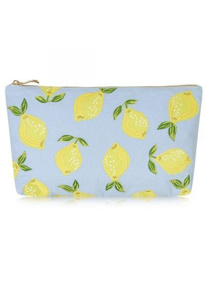 Elizabeth Scarlett Lemon Pouch Blue
