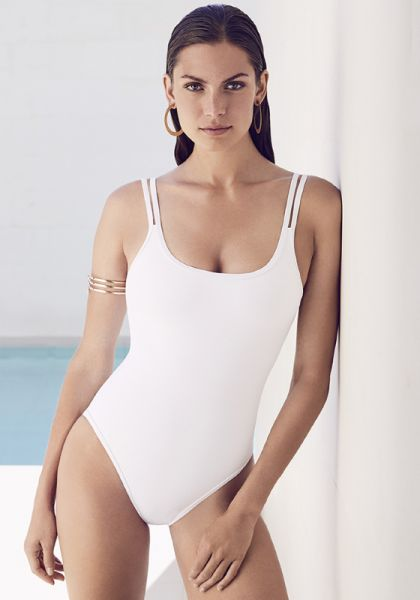Jets By Jessika Allen Double Strap Swimsuit White