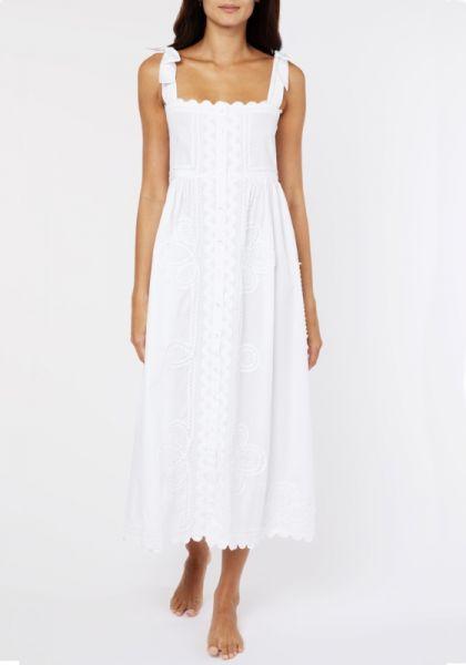 Juliet Dunn Ric Rac Tie Shoulder Dress