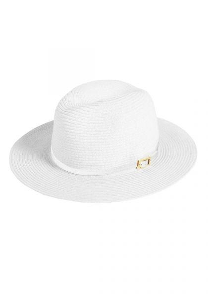 Melissa Odabash Fedora Hat White