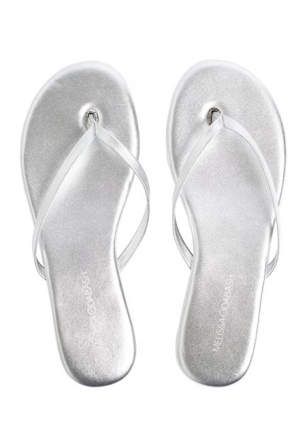 Melissa Odabash Silver Sandals