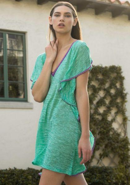 Pitusa Flare Mini Dress Mint