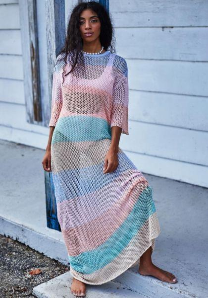 Pitusa Rainbow Crochet Maxi Dress