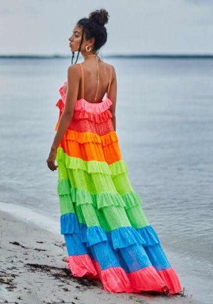 Pitusa Ruffle Tiered Dress