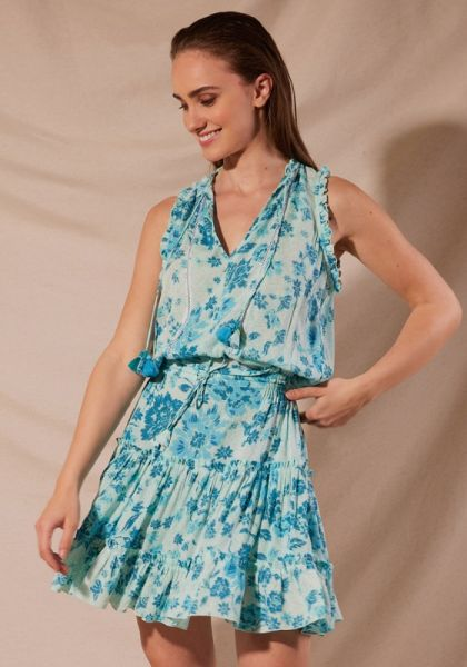 Clara Dress Aqua Grasse