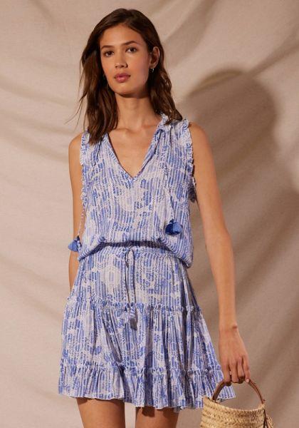 Clara Dress Blue Begonia