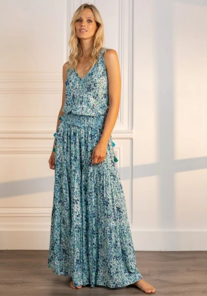 Long Soledad Jumpsuit Blue Daffodil