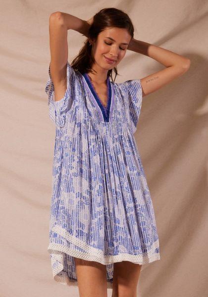 Sasha Dress Blue Begonia