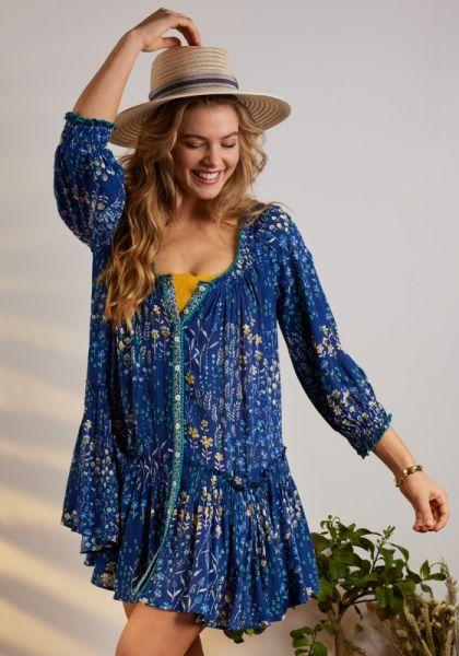 Tesorino Dress Blue Bouquet