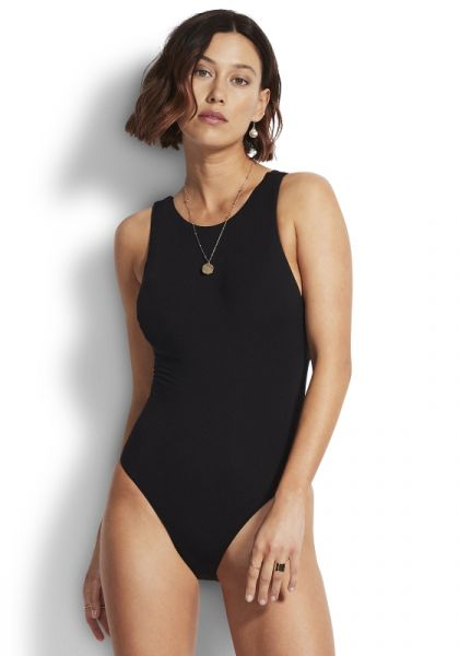 Active High Neck Swimsuit
