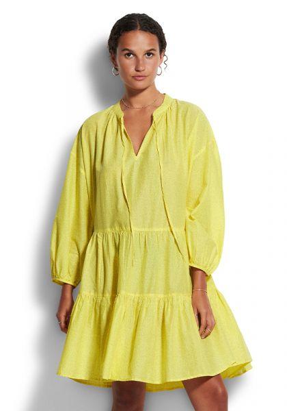 Boheme Tiered Dress Yellow