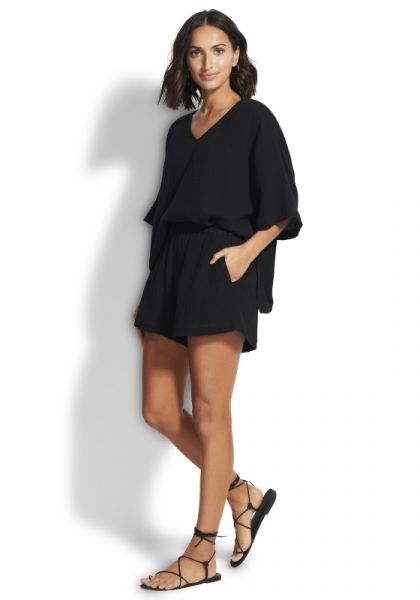 Double Cloth Shorts Black
