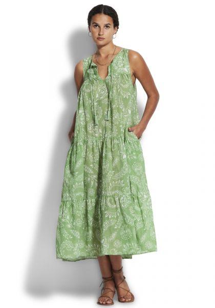 Folklore Midi Dress Green