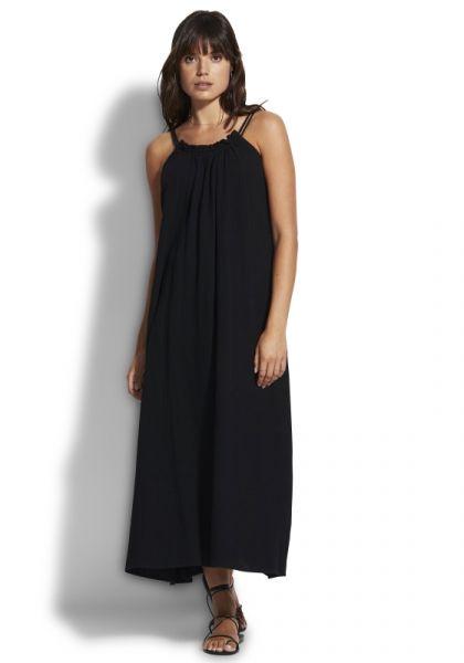 Soleil Double Cloth Dress Black