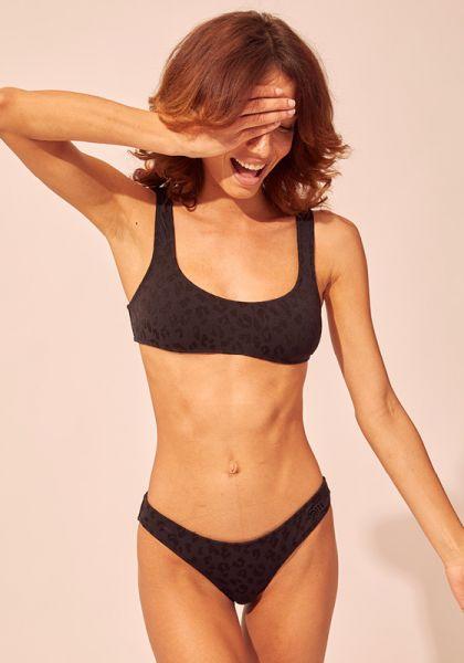Solid & Striped Elle Bikini Jacquard Leopard