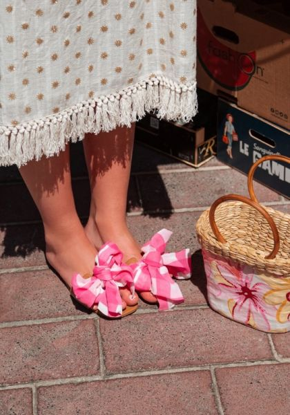 Amour Sandals Gingham