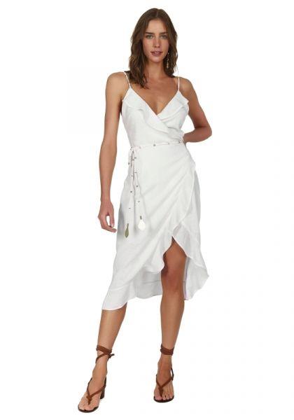 Vix Swimwear White Leone Dress