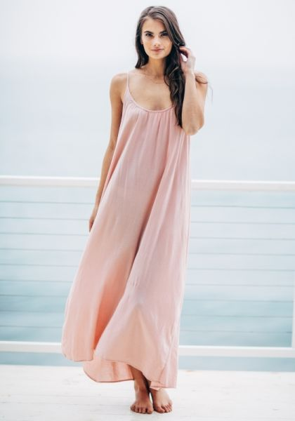 9Seed Tulum Dress Dusty Rose