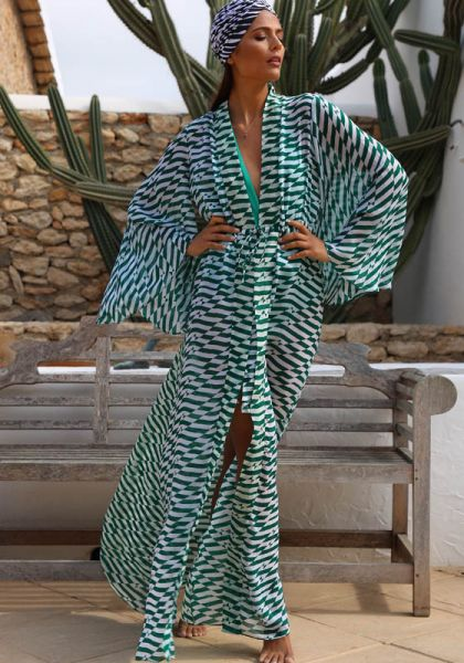 Alexandra Miro Betty Gown Green Geo
