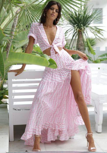 Penelope Skirt Pink Geo