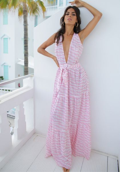 Raphaela Dress Pink Geo