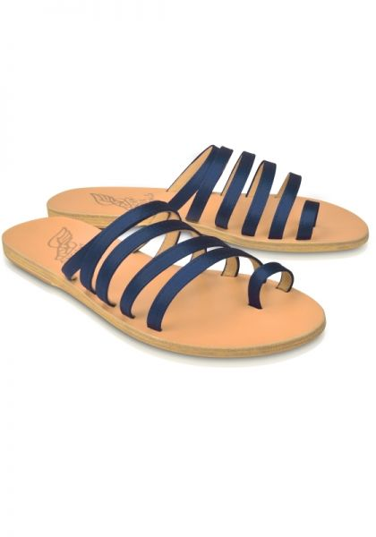 Ancient Greek Sandals Niki Sandals Navy Satin