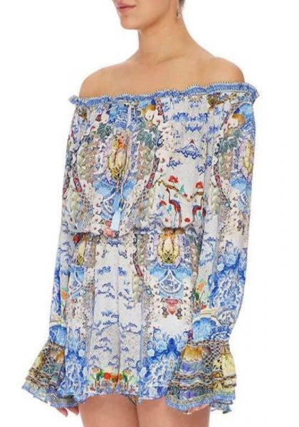 Geisha Gateways Drop Shoulder Frill Playsuit