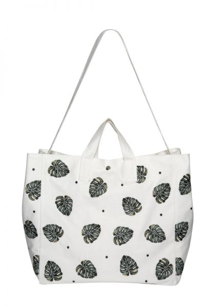 Elizabeth Scarlett Jungle Leaf Beach Bag