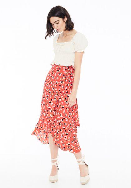 Faithfull The Brand Celeste Wrap Skirt Jasmine Floral Print