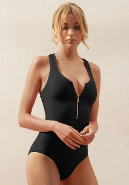 Core Black Racerback One Piece