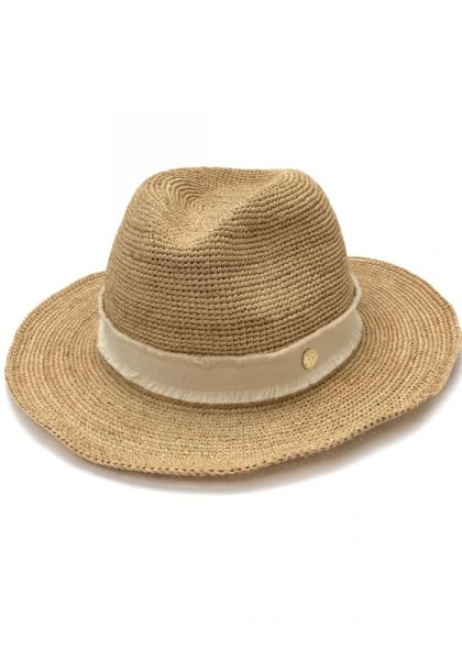 Cape Elizabeth Raffia Fedora Hat