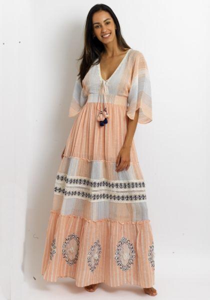 Hemant Nandita Bonny Short Sleeve Dress