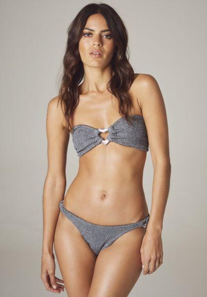 Leya Bandeau Bikini-Gunmetal