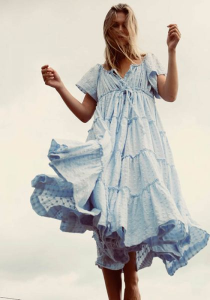 Innika Choo Peasant Dress Dusk