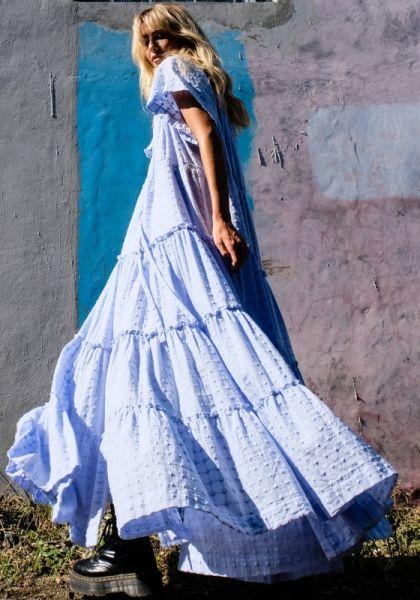 Innika Choo Peasant Dress Dusk