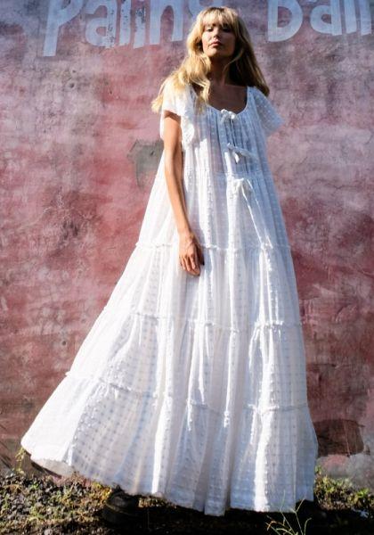 Innika Choo Peasant Dress Milk