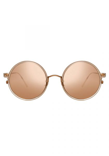 Oversized Round Frame Rose Gold Sunglasses