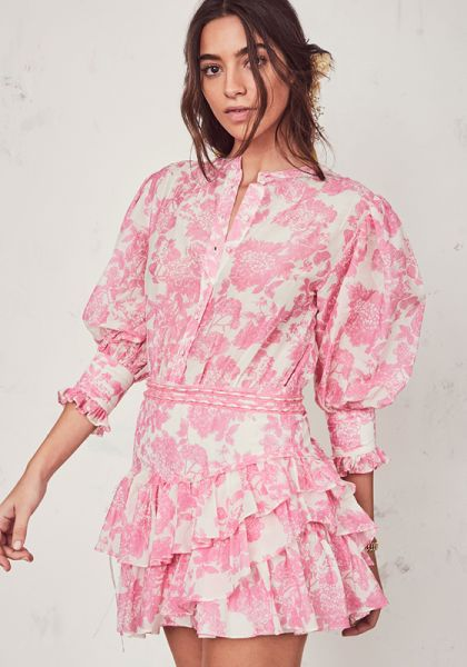 LoveShackFancy Lorelei Dress Pink Gem