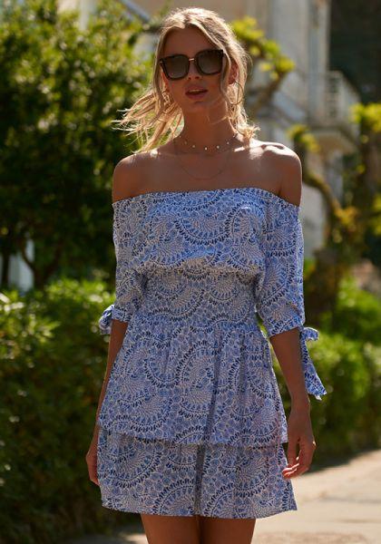 Melissa Odabash Camilla Off Shoulder Dress Capri