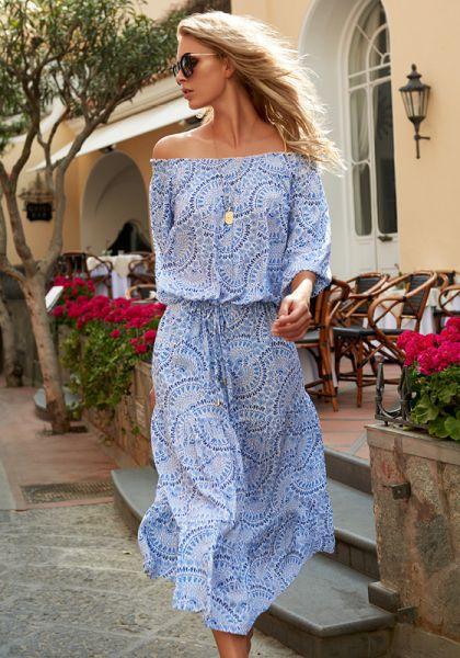 Melissa Odabash Carmen Off Shoulder Dress Capri