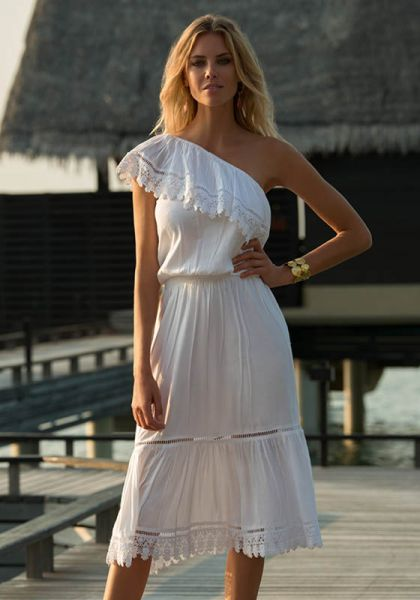 Melissa Odabash Jo Dress White
